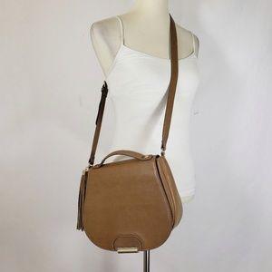 The Limited Brown Adjustable Handbag with Tassel